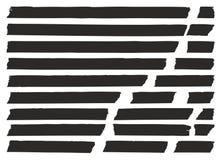 Чернота ленты для маскировки установила 02 Стоковые Фотографии RF