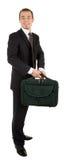 чернота мешка нося высоких детенышей костюма человека Стоковая Фотография