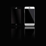Чернота мобильных устройств Стоковые Изображения RF