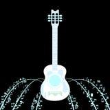 Чернота назад гитара Стоковые Изображения