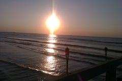 чернота над восходом солнца моря Стоковое Изображение RF