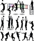чернота над волейболом студии съемки игрока Иллюстрация вектора