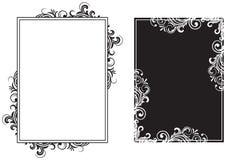 чернота обрамляет белизну Стоковая Фотография