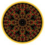 Чернота орнамента Khokhloma иллюстрация вектора