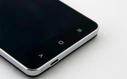Чернота переключенная с изолированного smartphone Стоковые Изображения
