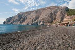чернота пляжа Стоковое Изображение RF