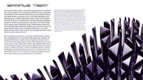 чернота предпосылки абстракции 3d Стоковые Фото