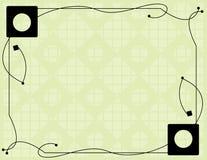 чернота предпосылки с белизны Стоковое Фото