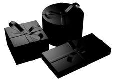чернота представляет 3 иллюстрация вектора