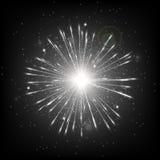 Чернота предпосылки Starburst Стоковое Изображение RF