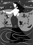 Чернота природы дамы Стоковые Фото