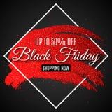 Чернота пятница знамени сети для продажи Линия Grunge с яркими блесками Черная предпосылка карточка 2007 приветствуя счастливое Н стоковая фотография