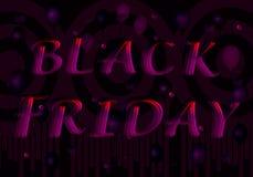 Чернота пятница надписи от пурпурн-красных писем стоковое изображение