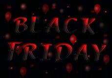 чернота пятница надписи 3D на черной предпосылке стоковые фото