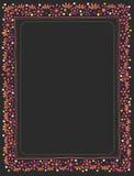 Чернота рамки цветка рождества Стоковые Фотографии RF