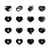 Чернота 16 сердца Стоковые Изображения RF