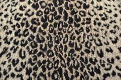 Чернота & сливк ткани леопарда Стоковые Изображения