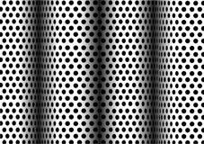 чернота ставит точки белизна Стоковое Фото
