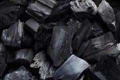 Чернота угля минеральная как предпосылка камня куба Стоковое Фото
