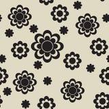чернота цветет безшовное Стоковое Изображение RF
