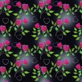 чернота цветет красный цвет Стоковые Фото