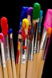 чернота чистит краску щеткой Стоковое Фото