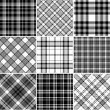 чернота делает по образцу белизну шотландки Стоковое Фото