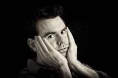 чернота 30 предпосылок его мыжской портрет s Стоковые Фотографии RF