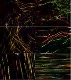 чернота 6 предпосылок стоковое фото