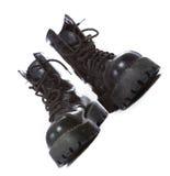 чернота boots максимум Стоковое фото RF