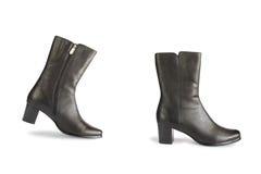 чернота boots один шаг Стоковые Изображения RF