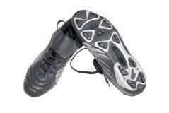 чернота boots футбол Стоковое фото RF