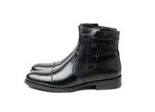 чернота boots mens Стоковое Изображение RF
