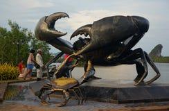 Чернота crabs статуя Стоковые Фото