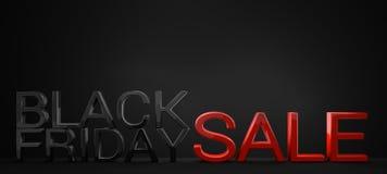 Чернота 3d черной продажи пятницы красная представляет Стоковые Фотографии RF