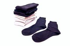 чернота socks белизна Стоковое Фото