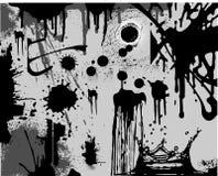 чернота splatters белизна Стоковое Изображение RF