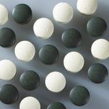 чернота tablets белизна стоковые изображения rf