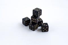 6 чернот dices Стоковые Изображения RF