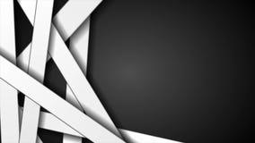 Черно-белая абстрактная striped видео- анимация иллюстрация вектора