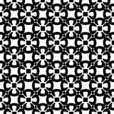 Черно-белая безшовная геометрическая картина стоковое изображение rf