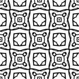 Черно-белая безшовная геометрическая картина стоковое фото