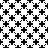 Черно-белая безшовная геометрическая картина стоковые фотографии rf