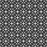 Черно-белая безшовная изогнутая картина стоковые изображения