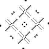 Черно-белая безшовная и геометрическая картина стоковые фотографии rf