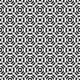 Черно-белая безшовная повторенная геометрическая предпосылка картины искусства иллюстрация штока