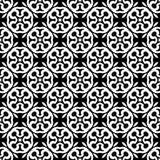 Черно-белая безшовная повторенная геометрическая предпосылка картины искусства бесплатная иллюстрация