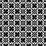 Черно-белая безшовная повторенная геометрическая предпосылка картины искусства Ткань, книги бесплатная иллюстрация