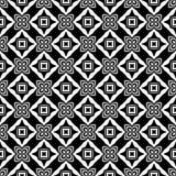 Черно-белая безшовная повторенная геометрическая предпосылка картины искусства Ткань, книги иллюстрация вектора