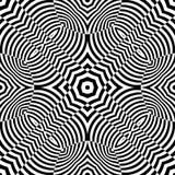 Черно-белая безшовная повторяя картина вектора Стоковое Фото